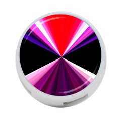 Red And Purple Triangles Abstract Pattern Background 4-Port USB Hub (Two Sides)  by Nexatart