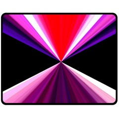 Red And Purple Triangles Abstract Pattern Background Fleece Blanket (medium)  by Nexatart