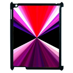 Red And Purple Triangles Abstract Pattern Background Apple Ipad 2 Case (black) by Nexatart