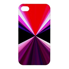 Red And Purple Triangles Abstract Pattern Background Apple Iphone 4/4s Premium Hardshell Case by Nexatart