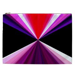 Red And Purple Triangles Abstract Pattern Background Cosmetic Bag (xxl)  by Nexatart