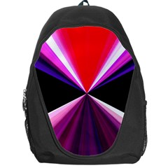 Red And Purple Triangles Abstract Pattern Background Backpack Bag