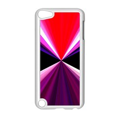 Red And Purple Triangles Abstract Pattern Background Apple Ipod Touch 5 Case (white) by Nexatart