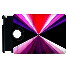 Red And Purple Triangles Abstract Pattern Background Apple Ipad 2 Flip 360 Case by Nexatart