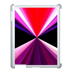 Red And Purple Triangles Abstract Pattern Background Apple Ipad 3/4 Case (white) by Nexatart