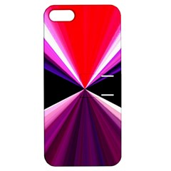 Red And Purple Triangles Abstract Pattern Background Apple Iphone 5 Hardshell Case With Stand by Nexatart