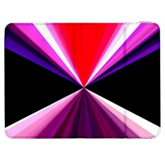 Red And Purple Triangles Abstract Pattern Background Samsung Galaxy Tab 7  P1000 Flip Case