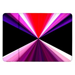 Red And Purple Triangles Abstract Pattern Background Samsung Galaxy Tab 8 9  P7300 Flip Case by Nexatart