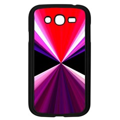 Red And Purple Triangles Abstract Pattern Background Samsung Galaxy Grand Duos I9082 Case (black)