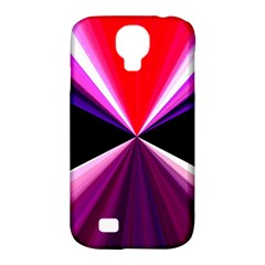 Red And Purple Triangles Abstract Pattern Background Samsung Galaxy S4 Classic Hardshell Case (pc+silicone) by Nexatart