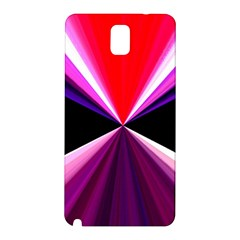 Red And Purple Triangles Abstract Pattern Background Samsung Galaxy Note 3 N9005 Hardshell Back Case by Nexatart