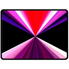 Red And Purple Triangles Abstract Pattern Background Double Sided Fleece Blanket (large)  by Nexatart