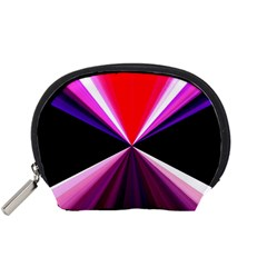 Red And Purple Triangles Abstract Pattern Background Accessory Pouches (small)