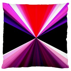 Red And Purple Triangles Abstract Pattern Background Large Flano Cushion Case (one Side)