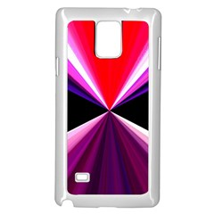 Red And Purple Triangles Abstract Pattern Background Samsung Galaxy Note 4 Case (white) by Nexatart