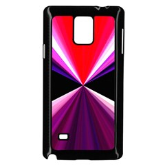 Red And Purple Triangles Abstract Pattern Background Samsung Galaxy Note 4 Case (black) by Nexatart