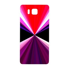 Red And Purple Triangles Abstract Pattern Background Samsung Galaxy Alpha Hardshell Back Case by Nexatart