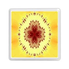 Yellow Digital Kaleidoskope Computer Graphic Memory Card Reader (square)  by Nexatart