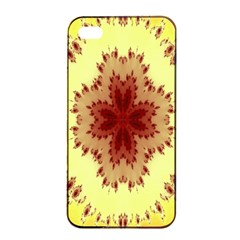 Yellow Digital Kaleidoskope Computer Graphic Apple Iphone 4/4s Seamless Case (black) by Nexatart