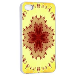 Yellow Digital Kaleidoskope Computer Graphic Apple Iphone 4/4s Seamless Case (white)