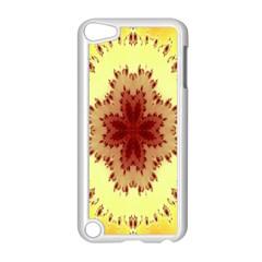 Yellow Digital Kaleidoskope Computer Graphic Apple iPod Touch 5 Case (White) by Nexatart