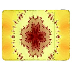 Yellow Digital Kaleidoskope Computer Graphic Samsung Galaxy Tab 7  P1000 Flip Case