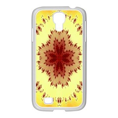 Yellow Digital Kaleidoskope Computer Graphic Samsung Galaxy S4 I9500/ I9505 Case (white) by Nexatart