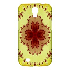 Yellow Digital Kaleidoskope Computer Graphic Samsung Galaxy Mega 6 3  I9200 Hardshell Case by Nexatart