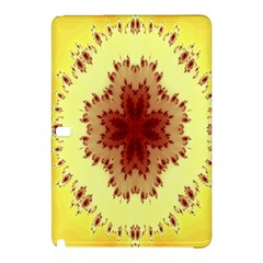 Yellow Digital Kaleidoskope Computer Graphic Samsung Galaxy Tab Pro 12 2 Hardshell Case by Nexatart