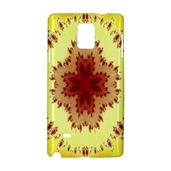 Yellow Digital Kaleidoskope Computer Graphic Samsung Galaxy Note 4 Hardshell Case by Nexatart