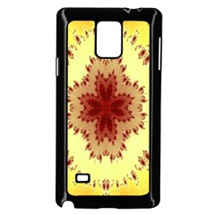 Yellow Digital Kaleidoskope Computer Graphic Samsung Galaxy Note 4 Case (black)