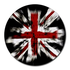 British Flag Round Mousepads by Nexatart