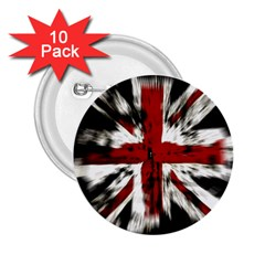 British Flag 2 25  Buttons (10 Pack)  by Nexatart