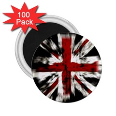 British Flag 2 25  Magnets (100 Pack)  by Nexatart