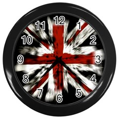 British Flag Wall Clocks (black) by Nexatart