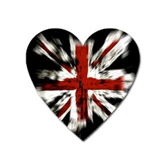 British Flag Heart Magnet by Nexatart