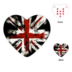 British Flag Playing Cards (heart)  by Nexatart