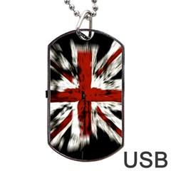 British Flag Dog Tag Usb Flash (one Side)