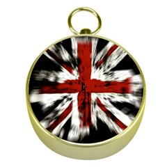 British Flag Gold Compasses