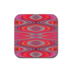 Hard Boiled Candy Abstract Rubber Coaster (square)  by Nexatart