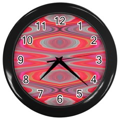 Hard Boiled Candy Abstract Wall Clocks (black) by Nexatart