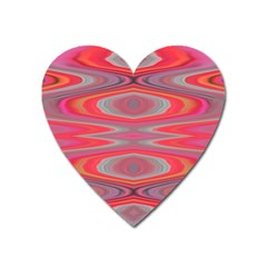 Hard Boiled Candy Abstract Heart Magnet by Nexatart
