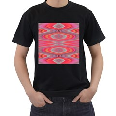 Hard Boiled Candy Abstract Men s T Shirt (black) (two Sided)