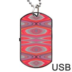 Hard Boiled Candy Abstract Dog Tag Usb Flash (one Side) by Nexatart