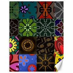 Digitally Created Abstract Patchwork Collage Pattern Canvas 12  X 16