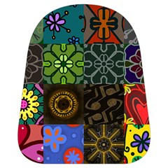 Digitally Created Abstract Patchwork Collage Pattern School Bags (small)  by Nexatart