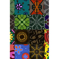 Digitally Created Abstract Patchwork Collage Pattern 5 5  X 8 5  Notebooks by Nexatart