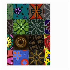 Digitally Created Abstract Patchwork Collage Pattern Large Garden Flag (two Sides)