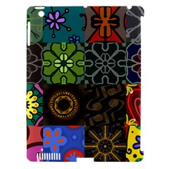 Digitally Created Abstract Patchwork Collage Pattern Apple Ipad 3/4 Hardshell Case (compatible With Smart Cover) by Nexatart