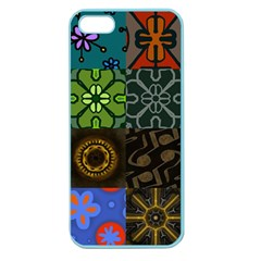 Digitally Created Abstract Patchwork Collage Pattern Apple Seamless Iphone 5 Case (color) by Nexatart